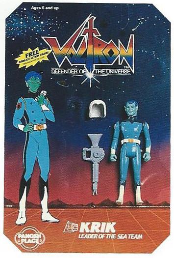 Panosh Place 1986 Toy Fair Catalog - Page 29 (Voltron Krik action figure on blister card)