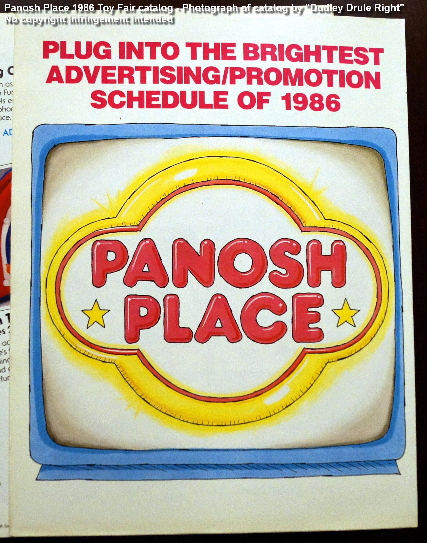 Panosh Place 1986 Toy Fair Catalog - Advertising/Promotion Schedule Insert