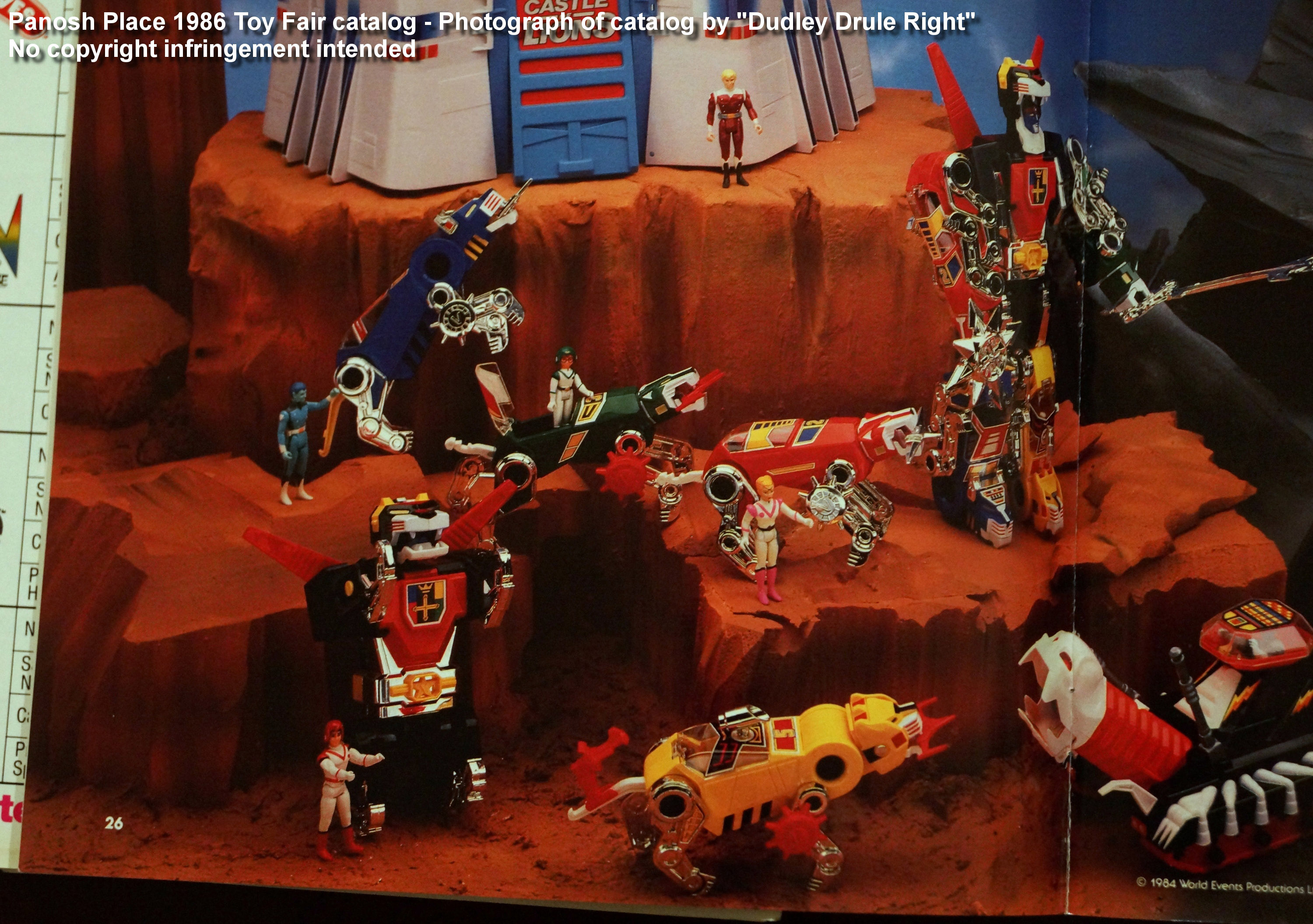 Panosh Place 1986 Toy Fair Catalog - Page 26 Top (All 1986 Voltron toys)