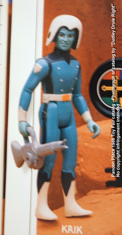 Panosh Place 1986 Toy Fair Catalog - Page 28 (Voltron Krik action figure)