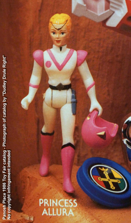 Panosh Place 1986 Toy Fair Catalog - Page 29 (Voltron Princess Allura action figure)