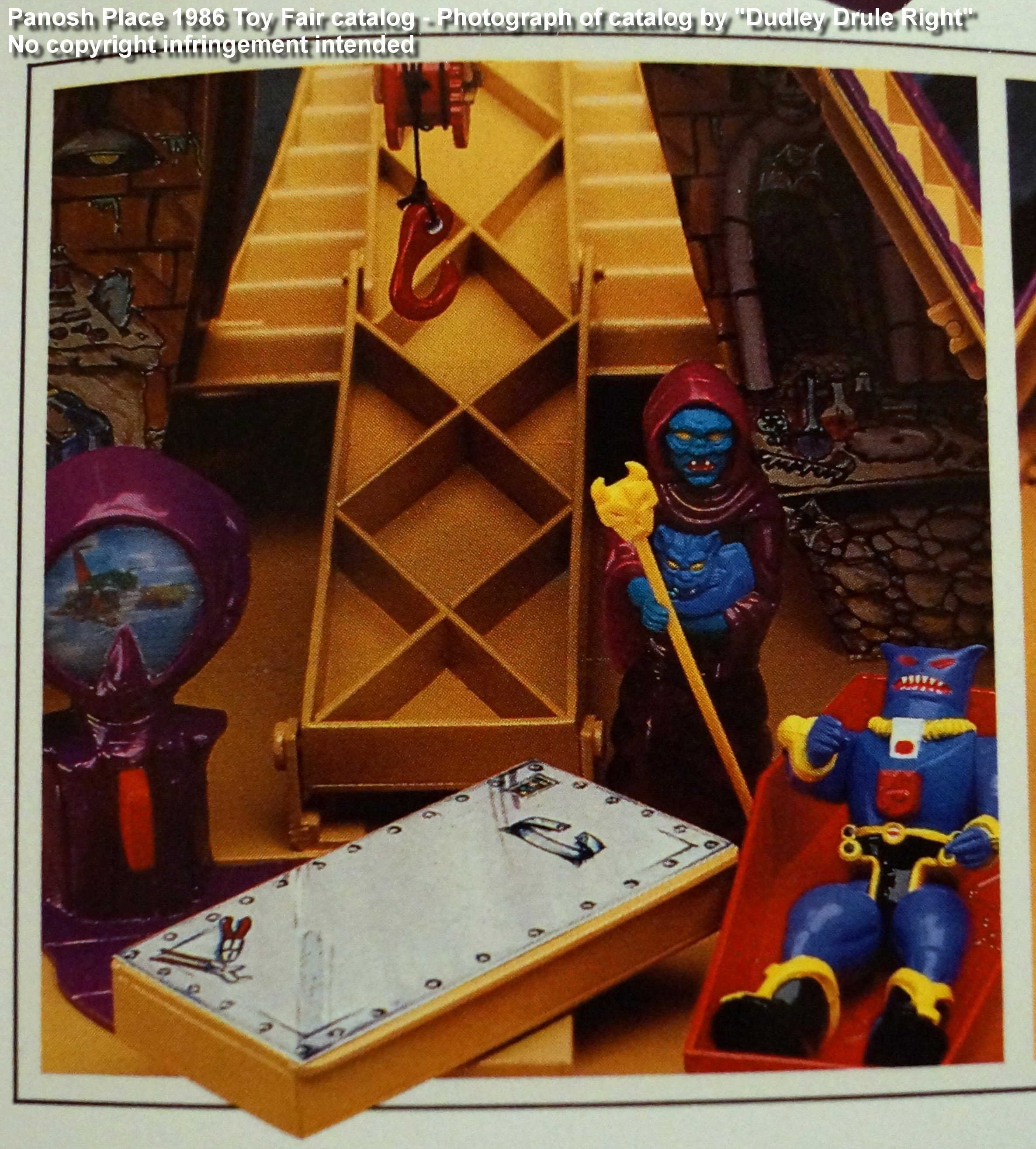 Panosh Place 1986 Toy Fair Catalog - Page 39 (Voltron Castle of Doom Haggar's lab with celestial scanner)