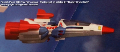 Panosh Place 1986 Toy Fair Catalog - Page 26 (Voltron unnamed spaceship toy)