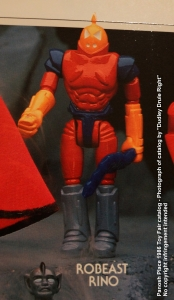 Panosh Place 1986 Toy Fair Catalog - Page 31 (Voltron Robeast Rino action figure)